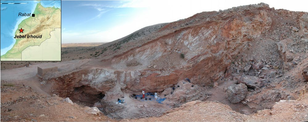 Jebel Irhoud archaeological site in Morocco